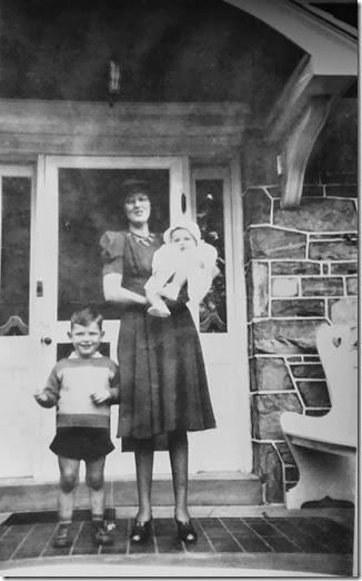Grandmom holding Dad