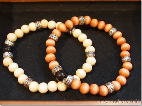 Wood Beads and Silver