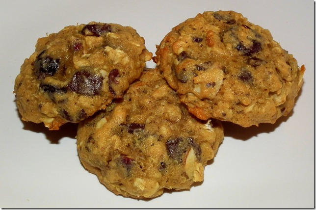 Almond Cranberry Quinoa Oatmeal Cookies