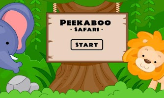 Screenshot of Peekaboo Safari for Kids