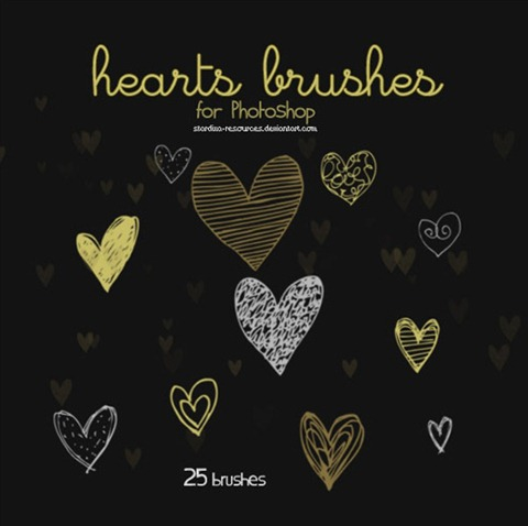 Hearts-brushes-II