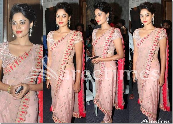 Bindu_Madhavi_Pink_Saree