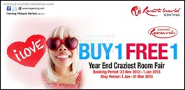 Genting Buy 1 FREE 1 Room Promotion Branded Shopping Save Money EverydayOnSales