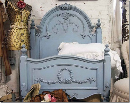 pinterest blue painted headboard
