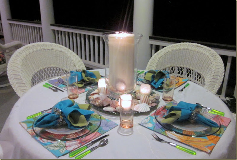 table candles lit
