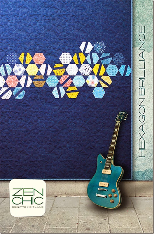 Hexagon Brilliance quilt pattern Zen Chic