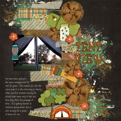 Katie Creates - Let's Go Camping - Tent View