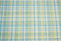 Tkanina meblowa w szkocką kratę. Niebieska.