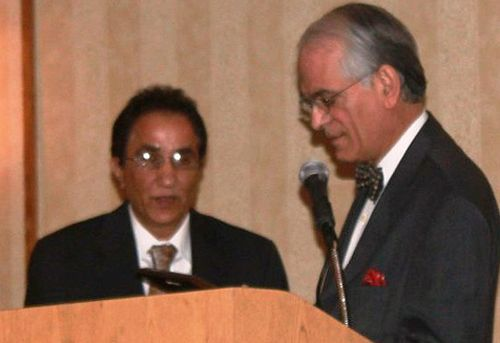 Dr. Basharat Ali accepts the Best Attending Award at the 2010 Research Symposium
