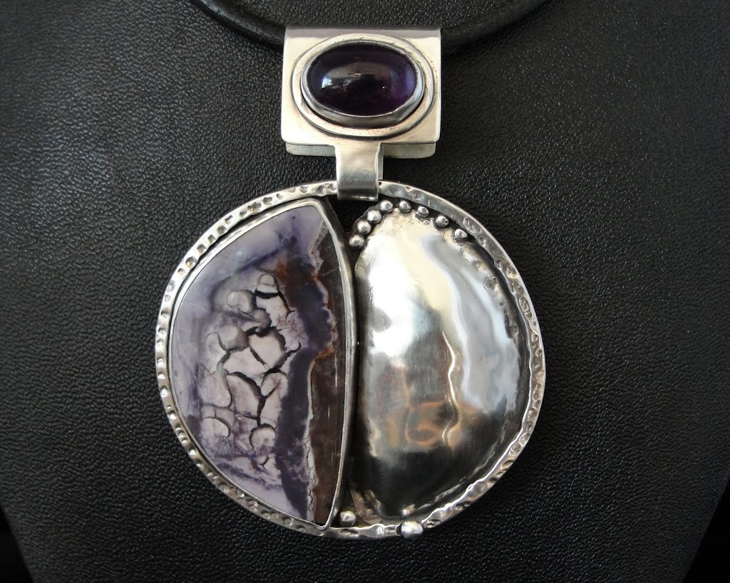 Bertrandite (Tiffany Stone) w/Amethyst.....Sold