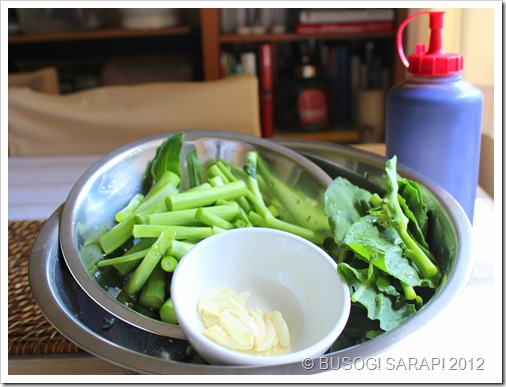 GAI LAN WITH OYSTER SAUCE INGREDIENTS© BUSOG! SARAP! 2012