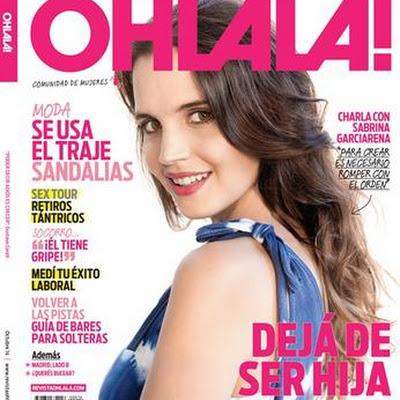 Sabrina Garciarena En Revista Ohlala Octubre 2014 Tapa Y