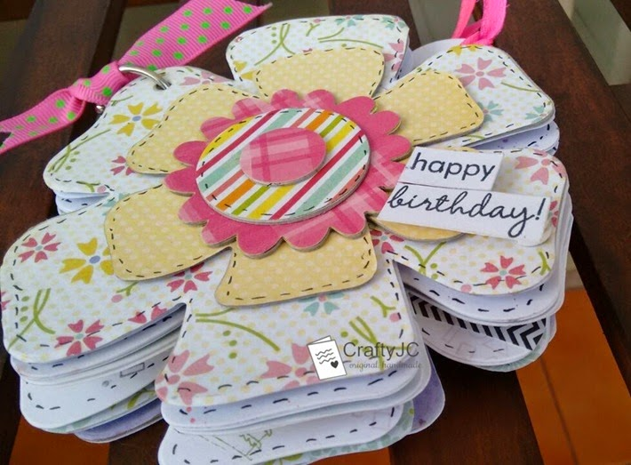 CraftyJC Shaped Mini Birthday Scrapbook 8