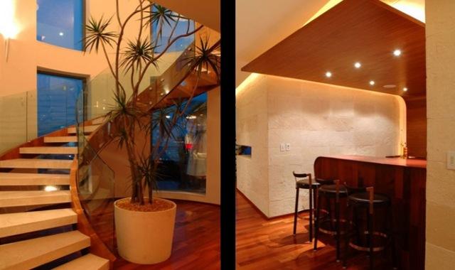 Arquitectura de penthouse que destaca por su refinado - Diseno escaleras interiores modernas ...