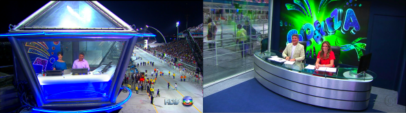 Estúdio de transmissão - Foto: Reprodução/TV Globo