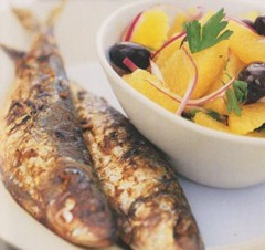 Grilled Sardines orange salad