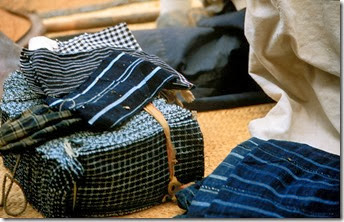 Indigo strips from Tereli, Mali