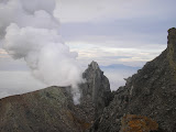 Sibuatan in the distance, beyond the new Sinabung crater (Daniel Quinn, April 2011)