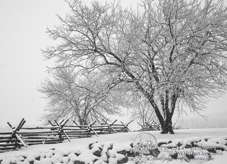 Gettysburg Snow 1-- 2-14 www.papercraftmemories.com