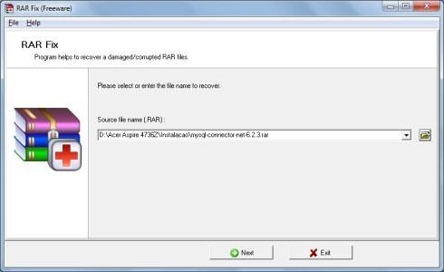 RAR Fix - Recuperar arquivos RAR corrompidos