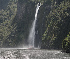 Milford Sound- waterfall