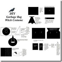 garbage bag witch costume pattern