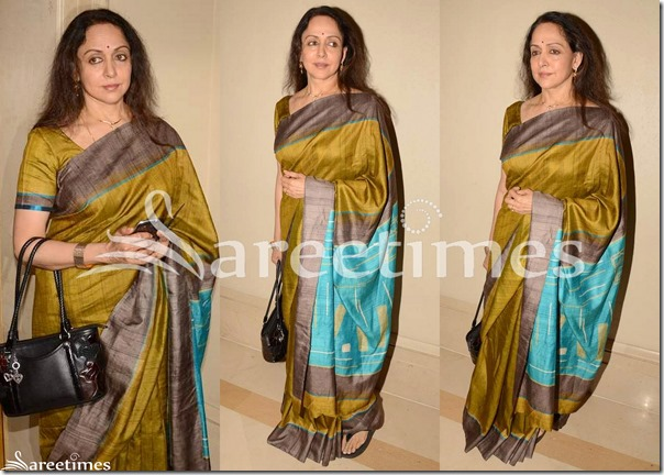 Hema_Malini_Green_Traditional_Silk_Saree