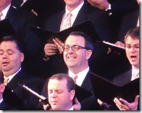 Shipley Munson sings with the Tabernacle Choir on 15 January 2011