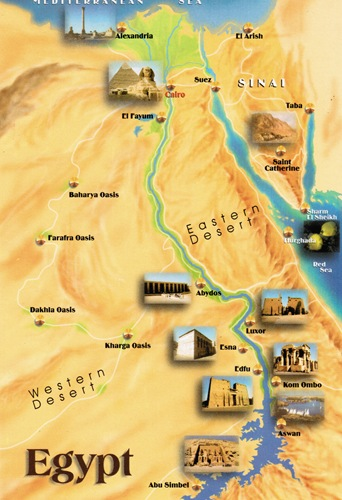 Egypt From Cairo To The Red Pyramid Bend Pyramid And Step - Map of egypt with pyramids