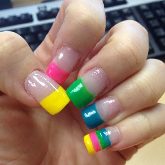 Colorfulnaildesigns2.126 Colorful Zebra Nail Designs