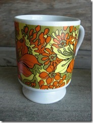 green yellow orange cups mugs