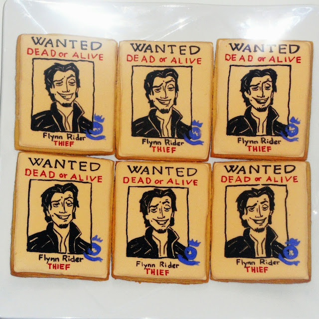 flynn rider wanted poster cookies