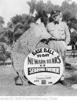 'Sign announcing a baseball game: Sebring, Florida' photo (c) 1930, Florida Memory - license: http://www.flickr.com/commons/usage/