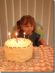 With bday cake