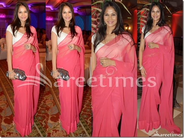 Pink_Plain_Georgette_Saree