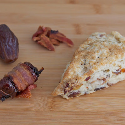Bacon and Date Scones