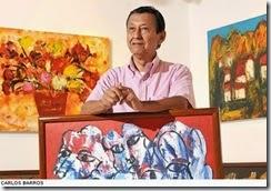 El pintor guayaquileño Félix Aráuz Basantes