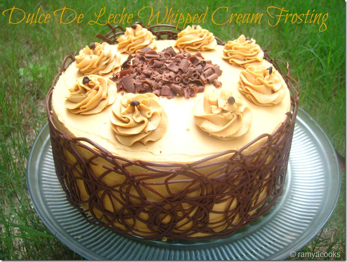 ramya cooks: Dulce De Leche Whipped Cream Frosting