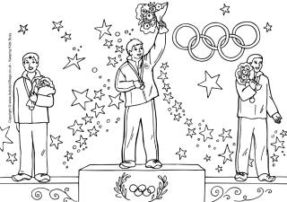 Olympic winners colouring page