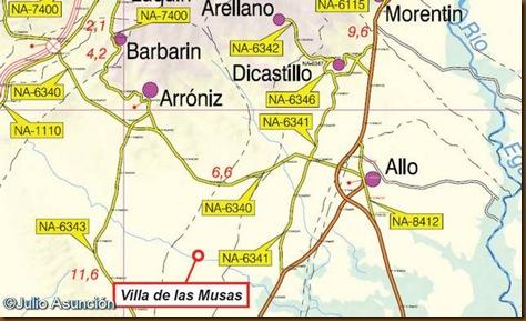 Localización villa de las Musas - Arellano