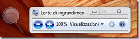 Lente di ingrandimento Windows 7