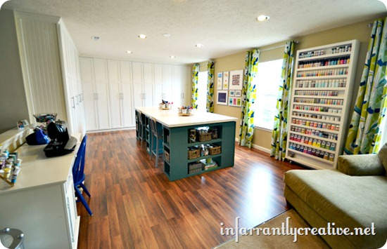 built ins craft room