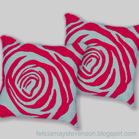Red rose cushions by felicianation on store envy