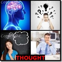 THOUGHT- 4 Pics 1 Word Answers 3 Letters