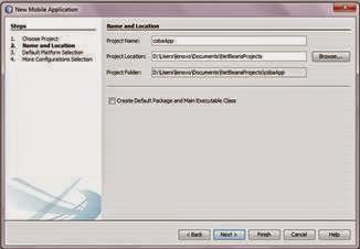 Tentukan lokasi penyimpanan project Netbean