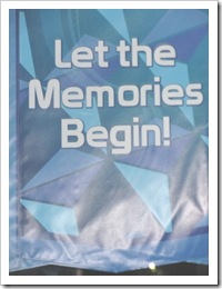 Florida vacation 3.12  Let the Memories begin sign at Epcot