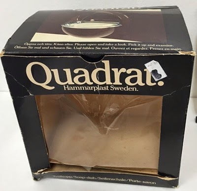 Quadrat soap dish Hammarplast Sweden soap dish box