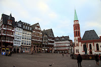 The town square in Frankfurt