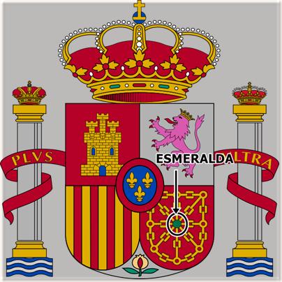 Escudo de España con la esmeralda de Miramamolín