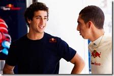 Daniel Ricciardo parla con Buemi